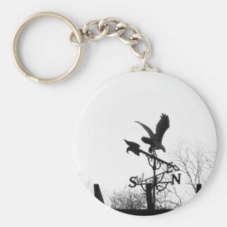 Örn och pil rund nyckelring