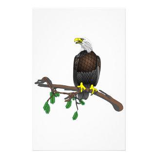 Örn på gren brevpapper