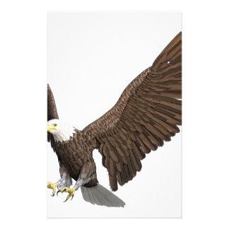 Örn som är kommande in för en landning brevpapper
