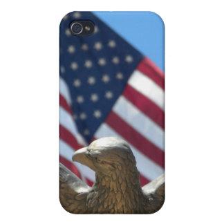 Örn & US-flagga iPhone 4 Skydd