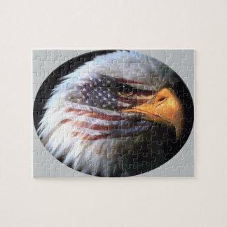 Örn - USA flagga Pussel