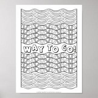 OrnaMENTALs #0161 långt som går färg ditt eget Poster