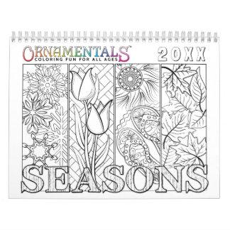 OrnaMENTALssäsonger som färgar till och med året Kalender