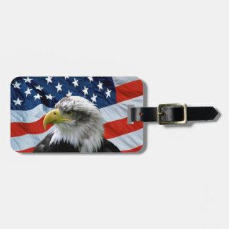 Örnamerikanska flaggan bagagebricka