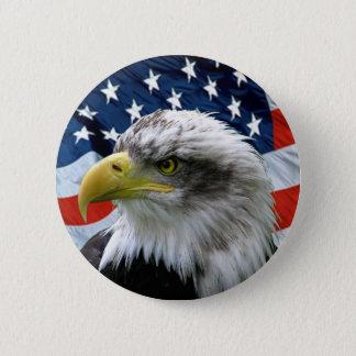 Örnamerikanska flaggan knäppas standard knapp rund 5.7 cm