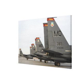 Örnar för strejka för US-flygvapen F-15E Canvastryck