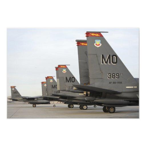 Örnar för strejka för US-flygvapen F-15E Fotografi
