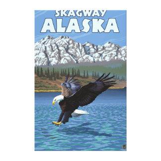 Örndykning - Skagway, Alaska Canvastryck