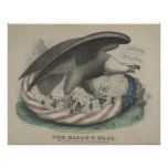 Örnen bygga bo det fackligt [1861] affischer