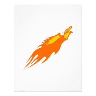 Örnen flammar in brevhuvud
