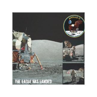 Örnen har landat Apollo 11 kanfas Canvastryck