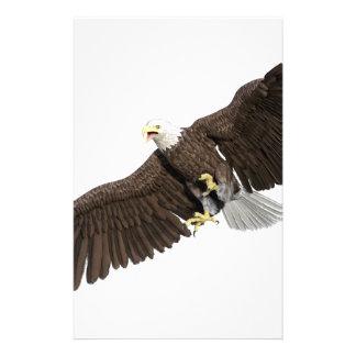 Örnen med vingar besegrar på slår brevpapper