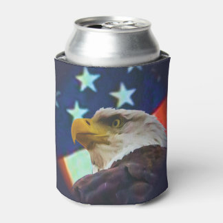 eagle and flag  can cooler