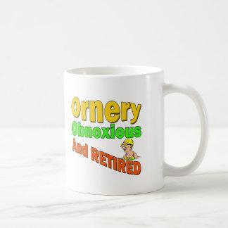 Ornery Obnoxious pensionär (2) Kaffemugg