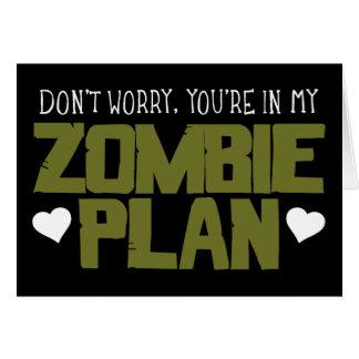 Oroa inte - du är i min Zombie planerar Hälsningskort