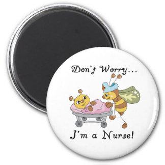 Oroa inte I-förmiddagen en sjuksköterska Magnet