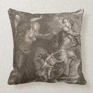 Orpheus som tillbaka leder Eurydice ut ur helvete, Kudde