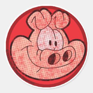 Orson grisklistermärkearna runt klistermärke