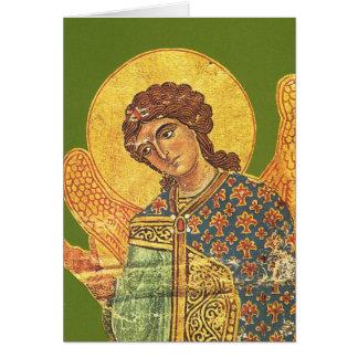 Ortodox ikon för vintage, ängel Gabriel Hälsningskort