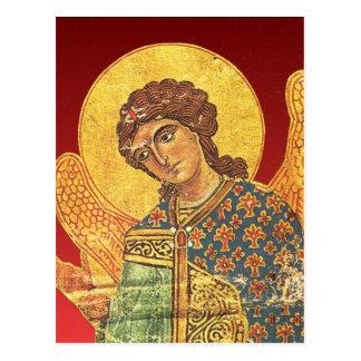 Ortodox ikon för vintage, ängel Gabriel Vykort