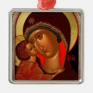 Ortodox julprydnad - Novgorod Theotokos Julgransprydnad Metall