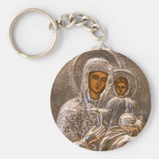 Ortodox symbol rund nyckelring