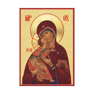 Ortodox symbol - Vladimir mor av guden Canvastryck