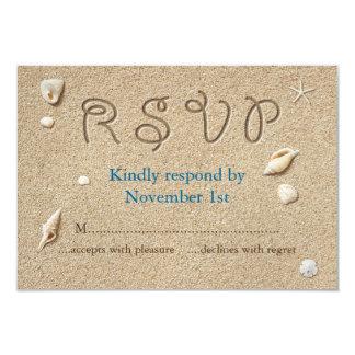 OSA för kyssar för sandiga Toes för strand salt 8,9 X 12,7 Cm Inbjudningskort