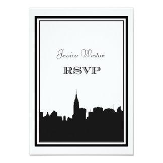 OSA för NYC-horisontSilhouette #2 DIY 8,9 X 12,7 Cm Inbjudningskort