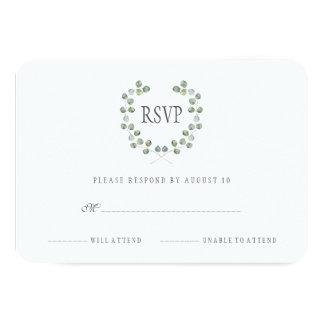 OSA för ram | för vattenfärgEucalyptuslöv 8,9 X 12,7 Cm Inbjudningskort