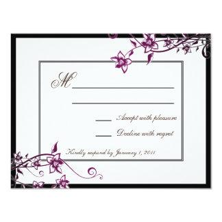 OSA för svar för bröllop för blommar för 10,8 X 14 Cm Inbjudningskort