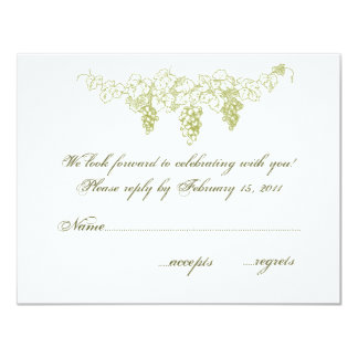OSA för vingårdbröllopinbjudan 10,8 X 14 Cm Inbjudningskort