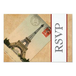 OSA för vintageParis Eiffel torn 8,9 X 12,7 Cm Inbjudningskort