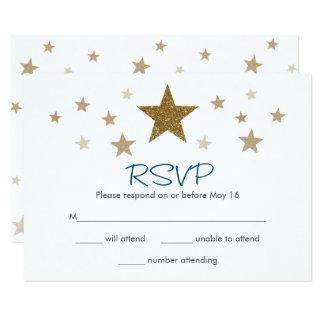 OSA kort för stjärna för glimtglimt lite 8,9 X 12,7 Cm Inbjudningskort