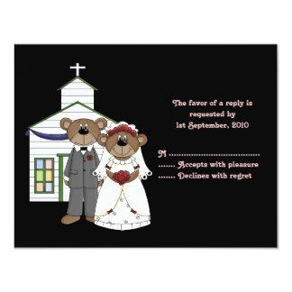 OSA kort som gifta sig björnsamlingen 10,8 X 14 Cm Inbjudningskort