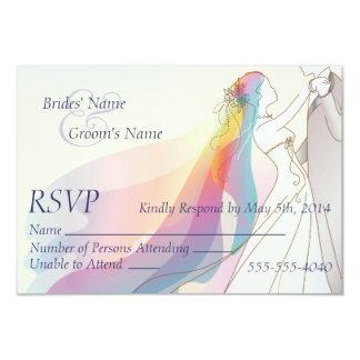 OSA - regnbågebrud & brudgumbröllop 8,9 X 12,7 Cm Inbjudningskort