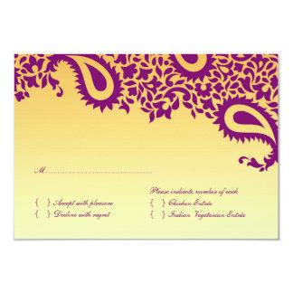 OSAbröllopkort med matalternativ 8,9 X 12,7 Cm Inbjudningskort