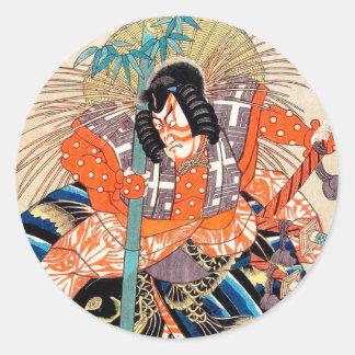 Oshimodori från serieen arton underbara Kabuki Runt Klistermärke