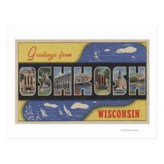 Oshkosh Wisconsin - stora brevplatser Vykort