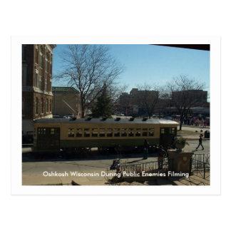 Oshkosh Wisconsin under offentliga fiender Vykort