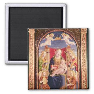 Oskuld och barn med ängelmusiker och saints magnet