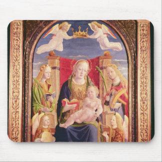 Oskuld och barn med ängelmusiker och saints musmatta