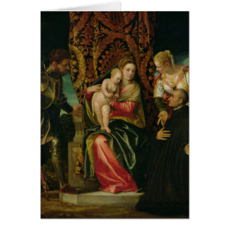 Oskuld och barn med en Benedictinemunk Hälsningskort