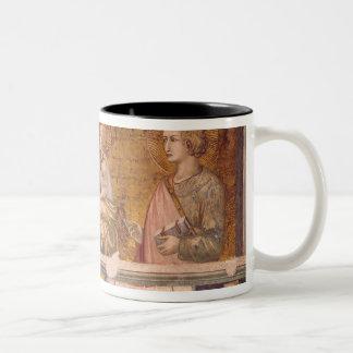 Oskuld och barn med St Francis och St John Två-Tonad Mugg