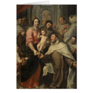 Oskulden av Carmelitesen Hälsningskort