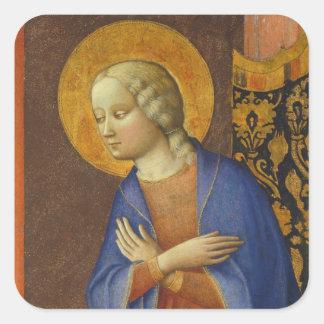 Oskulden bebådar, C. 1430 (tempera på panel) Fyrkantigt Klistermärke