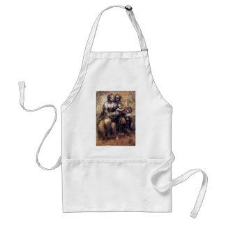 Oskulden och barnet med St Anne skissar Förkläde