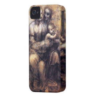 Oskulden och barnet med St Anne skissar iPhone 4 Case-Mate Fodral