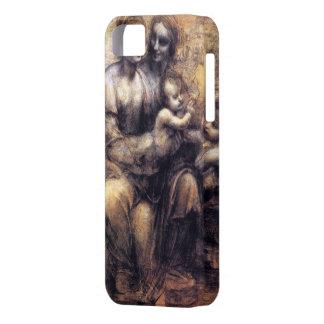 Oskulden och barnet med St Anne skissar iPhone 5 Case-Mate Skydd