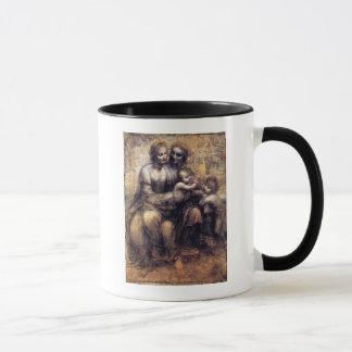 Oskulden och barnet med St Anne skissar Mugg